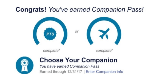 Purchase future flight before companion pass is awarded?